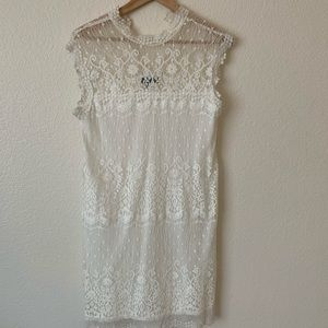 City Traingle Vintage Inspired White Dress